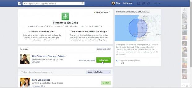 Comprobación del estado de seguridad para Terremoto en Chile